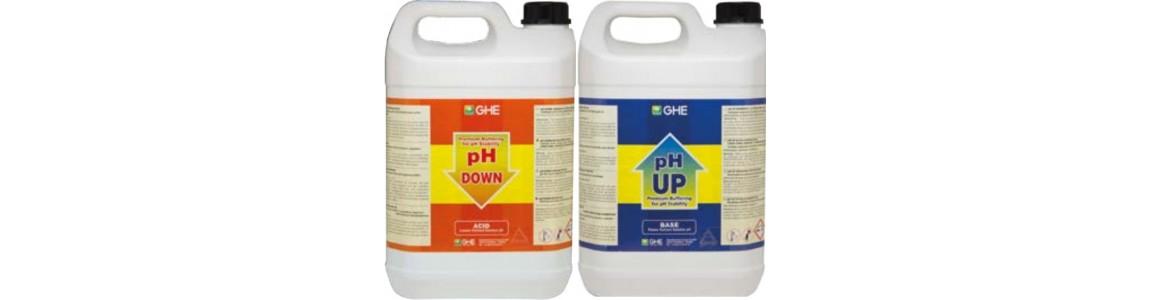 pH - et pH +